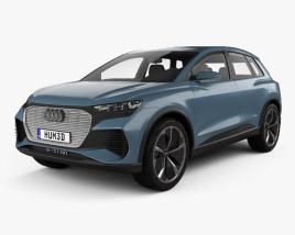 3D model of Audi Q4 e-tron 2019