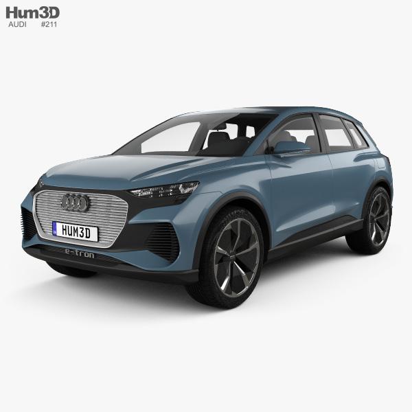 Audi Q4 e-tron concept 2019 3D model