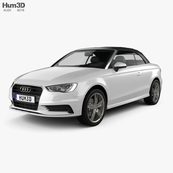 Audi A3 cabriolet 2014 3D model
