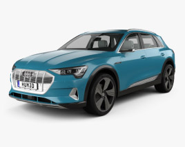 3D model of Audi e-tron with HQ interior 2019