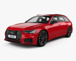 3D model of Audi S6 avant 2019