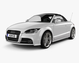 3D model of Audi TTS roadster 2010