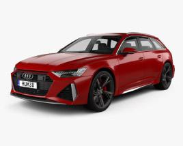 Audi RS6 avant 2019 3D model