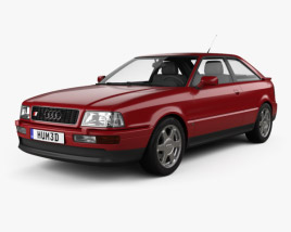 3D model of Audi S2 coupe 1990