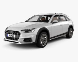 3D model of Audi A4 Allroad with HQ interior 2019