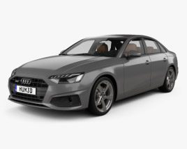 3D model of Audi A4 sedan with HQ interior 2019