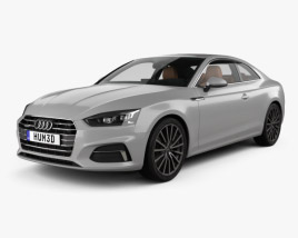 3D model of Audi A5 coupe with HQ interior 2016