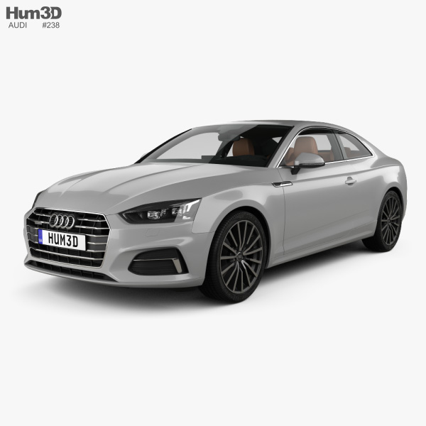 Audi A5 coupe with HQ interior 2016 3D model