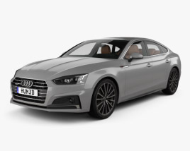 3D model of Audi A5 S-line sportback with HQ interior 2017