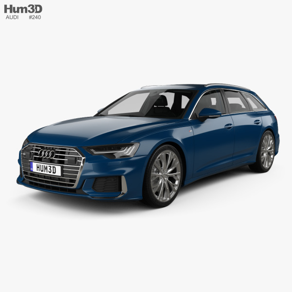 Audi A6 S-Line avant with HQ interior 2018 3D model