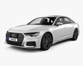 3D model of Audi A6 S-Line sedan with HQ interior 2018