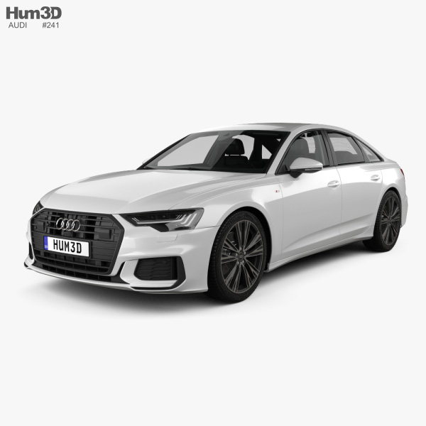 Audi A6 S-Line sedan with HQ interior 2018 3D model