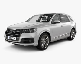 3D model of Audi Q7 S-line with HQ interior 2016