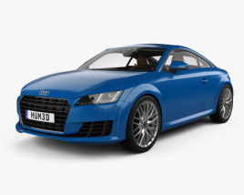 Audi TT coupe with HQ interior 2015 3D model
