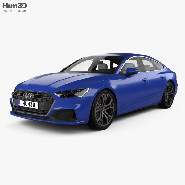 Audi A7 Sportback S-line with HQ interior 2018 3D model