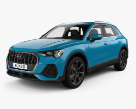 3D model of Audi Q3 S-line with HQ interior 2018