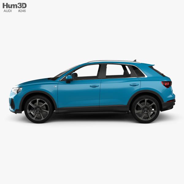 Audi Q3 S-line with HQ interior 2018 3D model