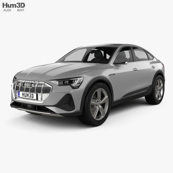 Audi e-tron sportback S-line coupe 2020 3D model