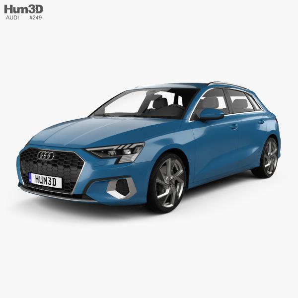 Audi A3 sportback 2020 3D model