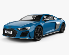 3D model of Audi R8 V10 coupe 2019