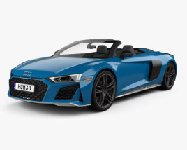 3D model of Audi R8 V10 US-spec spyder 2019