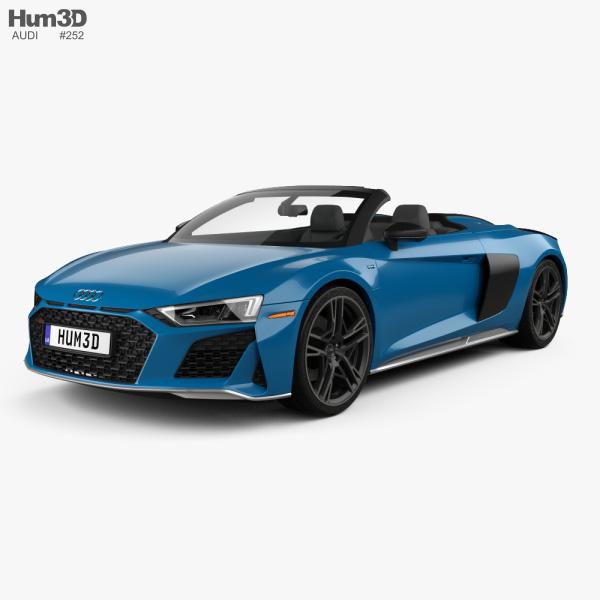 Audi R8 V10 US-spec spyder 2019 3D model