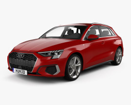 3D model of Audi A3 S-line sportback 2020