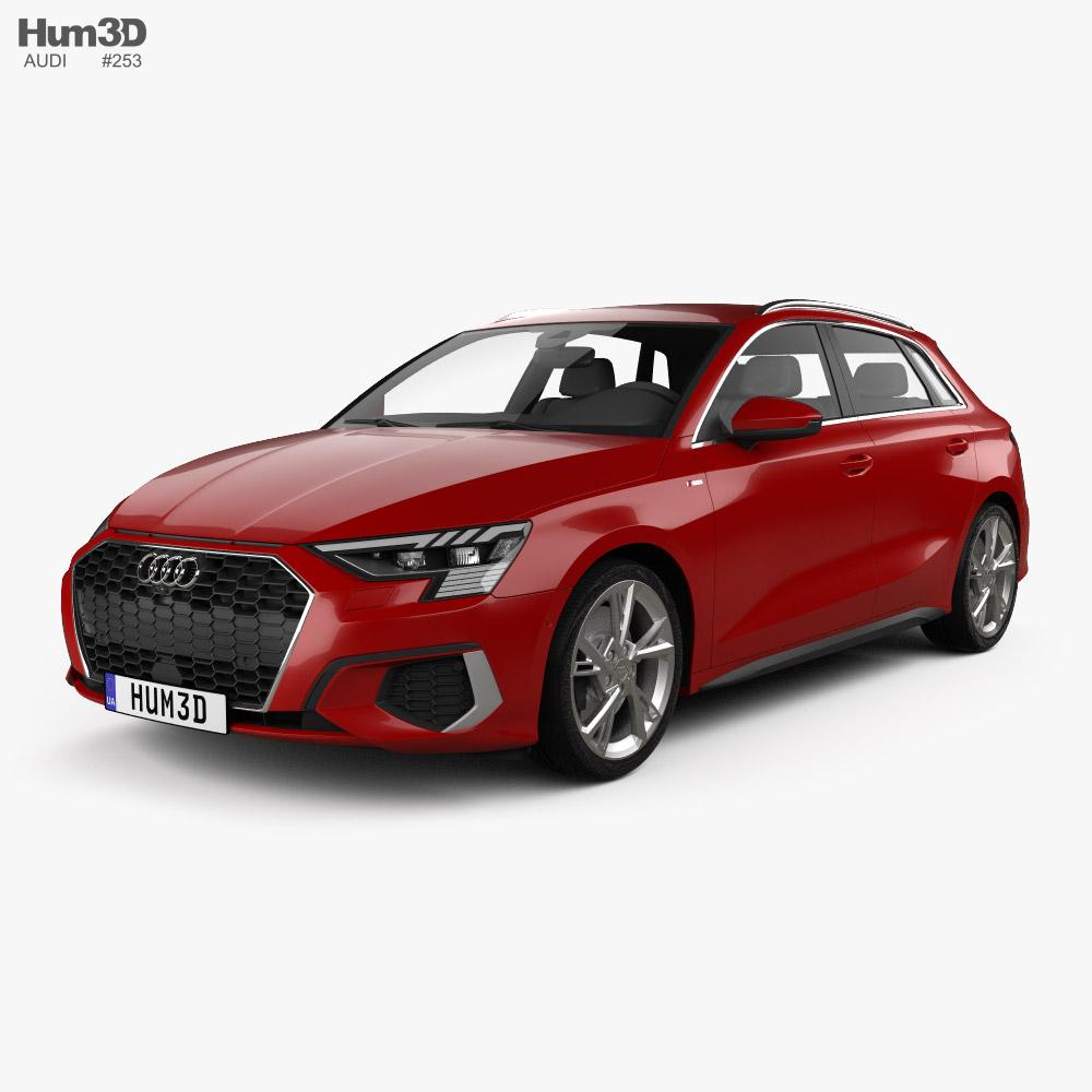 Audi A3 S-line sportback 2020 3D model