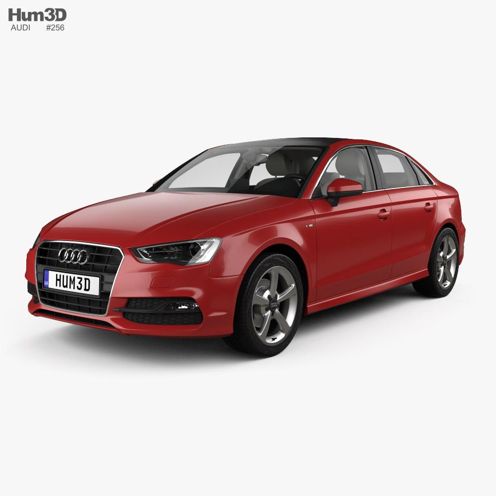 Audi A3 S-line Worldwide sedan with HQ interior 2013 3D model