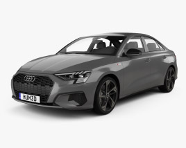 3D model of Audi A3 S-line sedan 2020