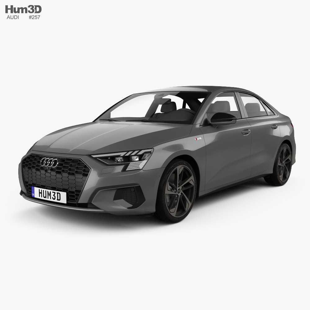 Audi A3 S-line sedan 2020 3D model