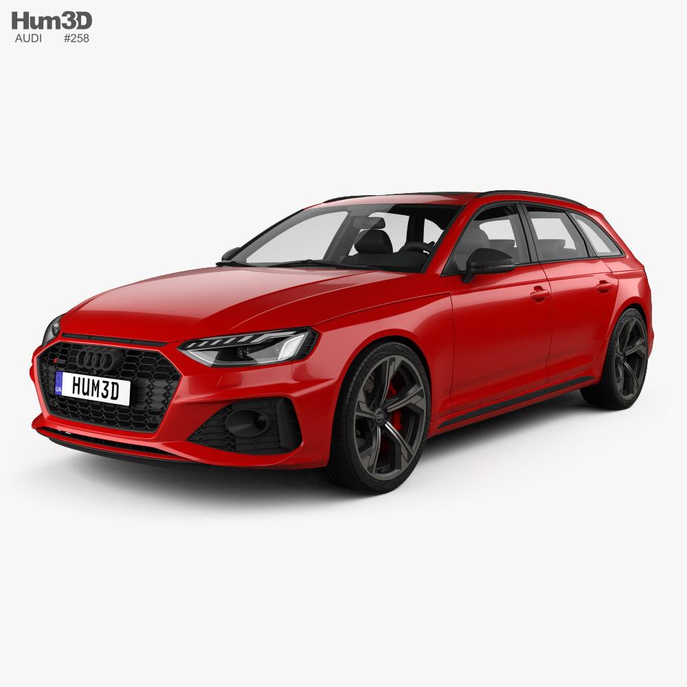 Audi RS4 avant 2021 3D model