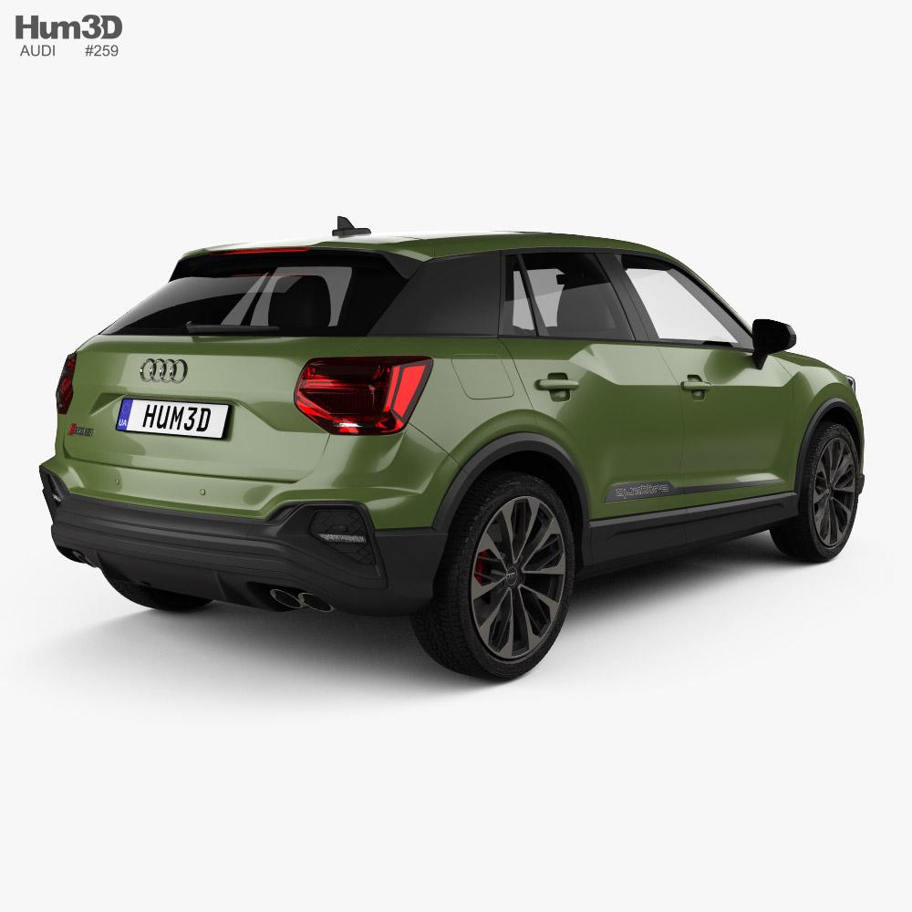 Audi SQ2 2020 3d model back view