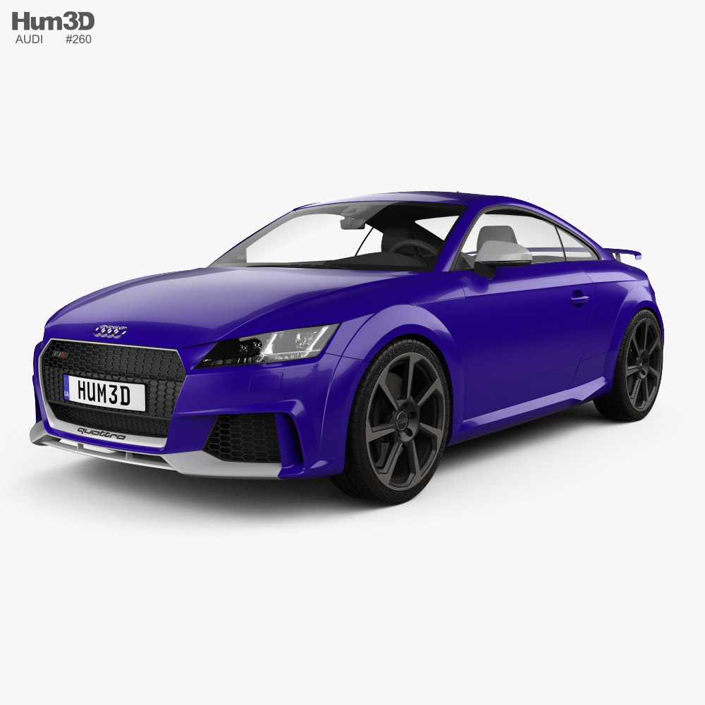 3D model of Audi TT RS coupe 2016