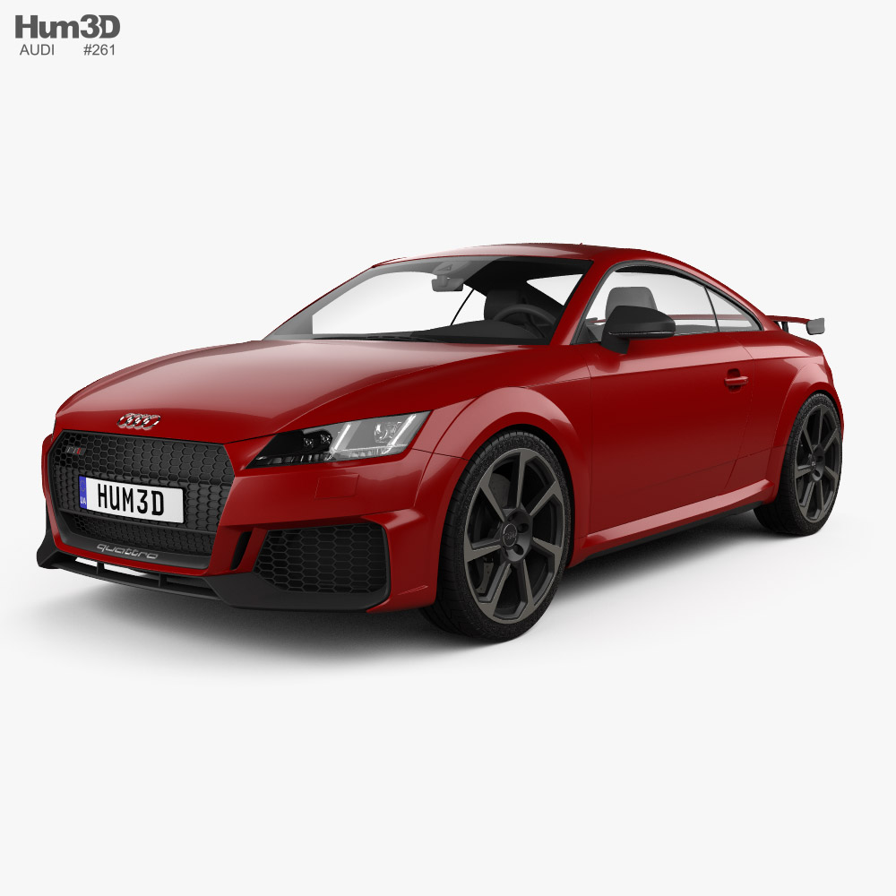 3D model of Audi TT RS coupe 2019