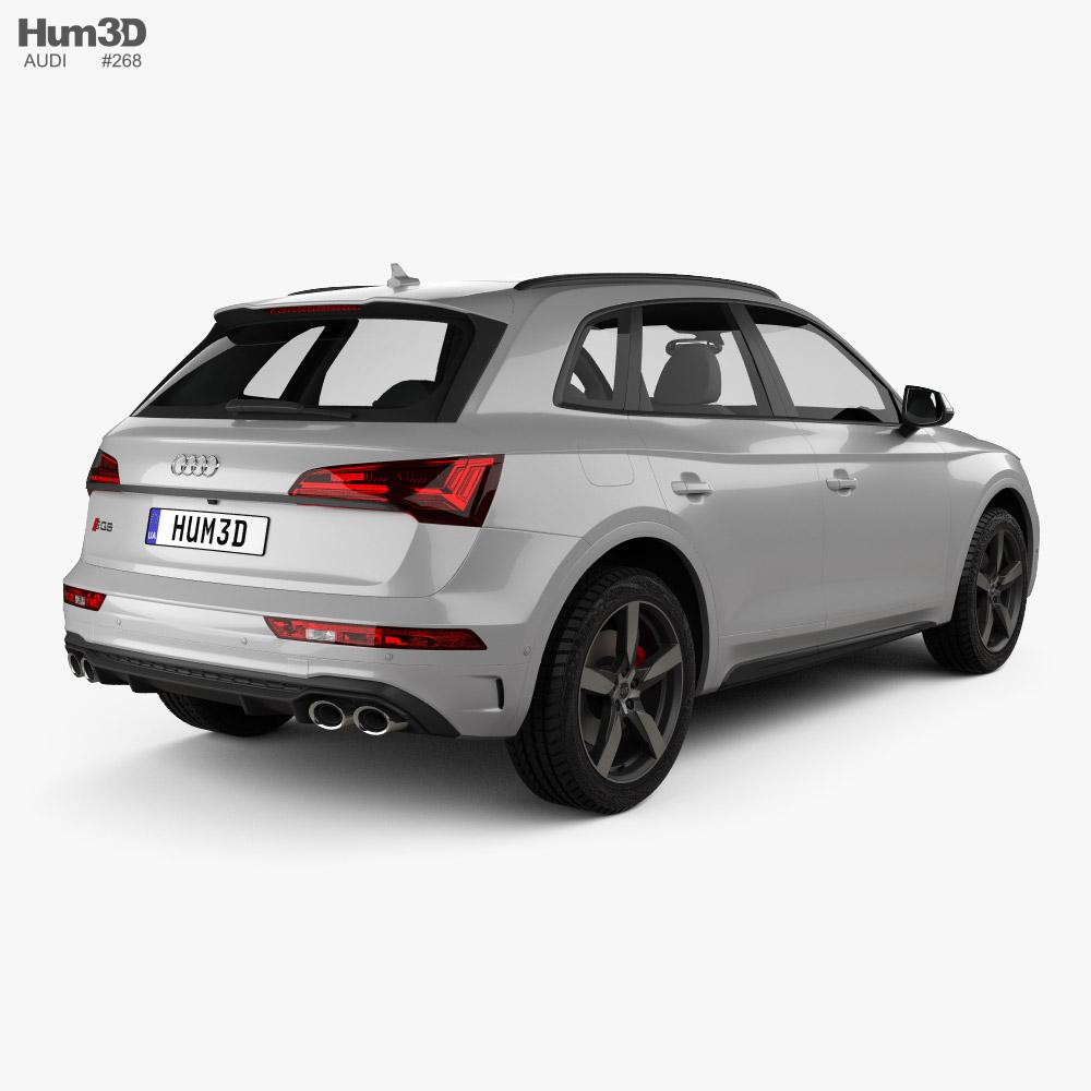 Audi SQ5 2020 3d model back view