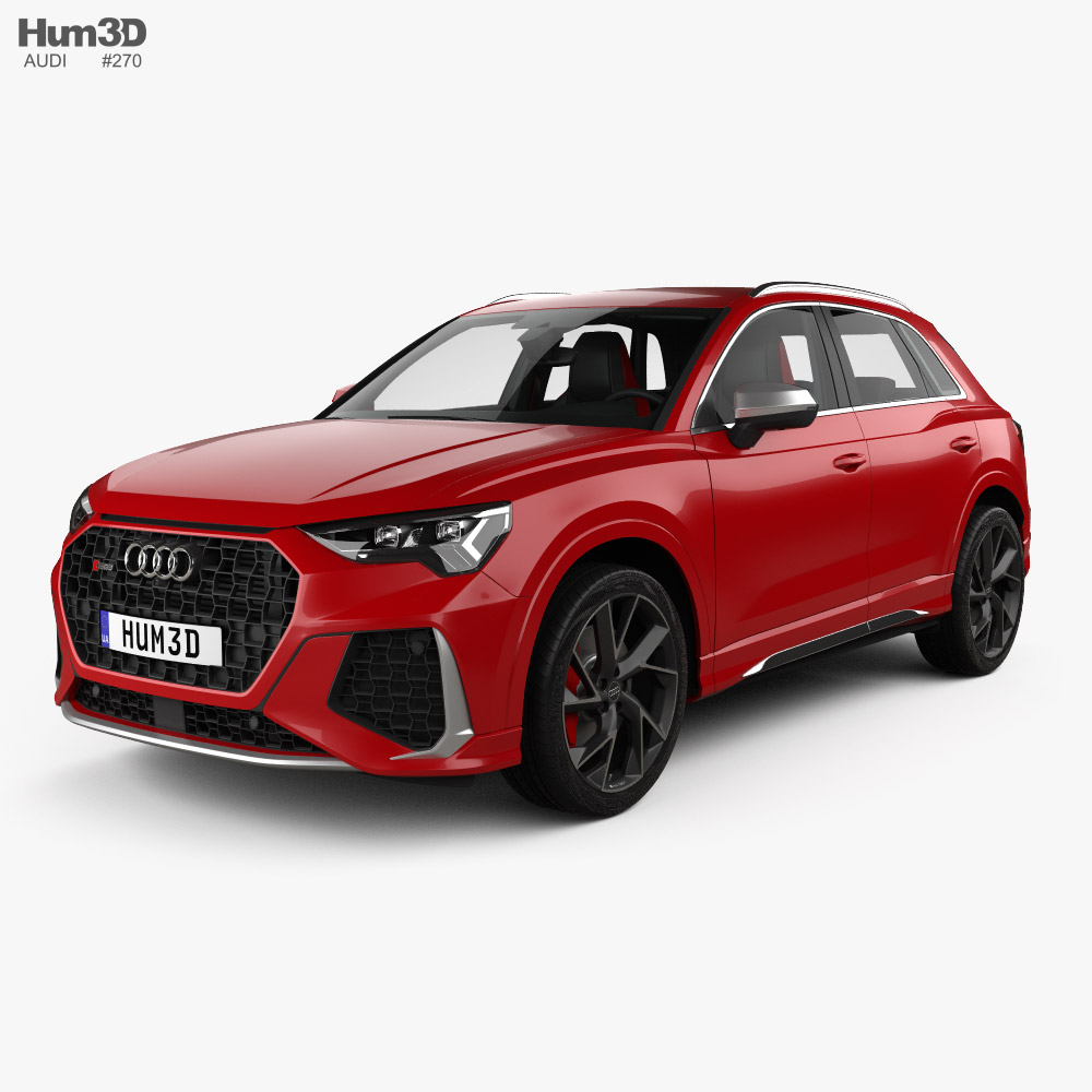 Audi Q3 RS with HQ interior 2019 3D model