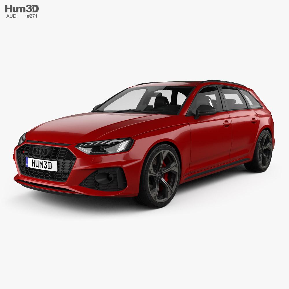 Audi RS4 avant with HQ interior 2021 3d model