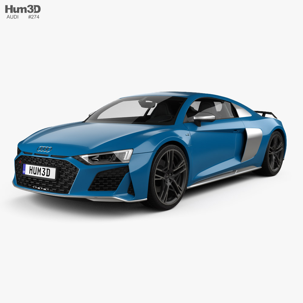 Audi R8 V10 coupe with HQ interior 2019 3D model