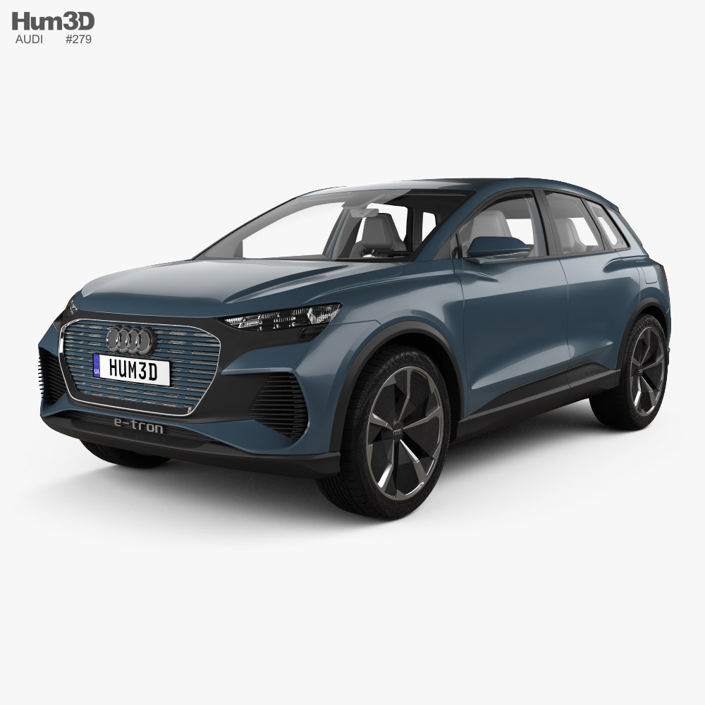 Audi Q4 e-tron concept with HQ interior 2019 3d model