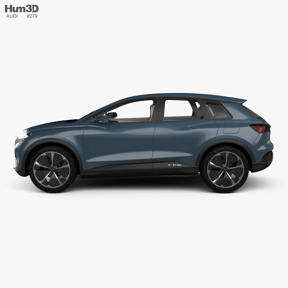 Audi Q4 e-tron concept with HQ interior 2019 3D model