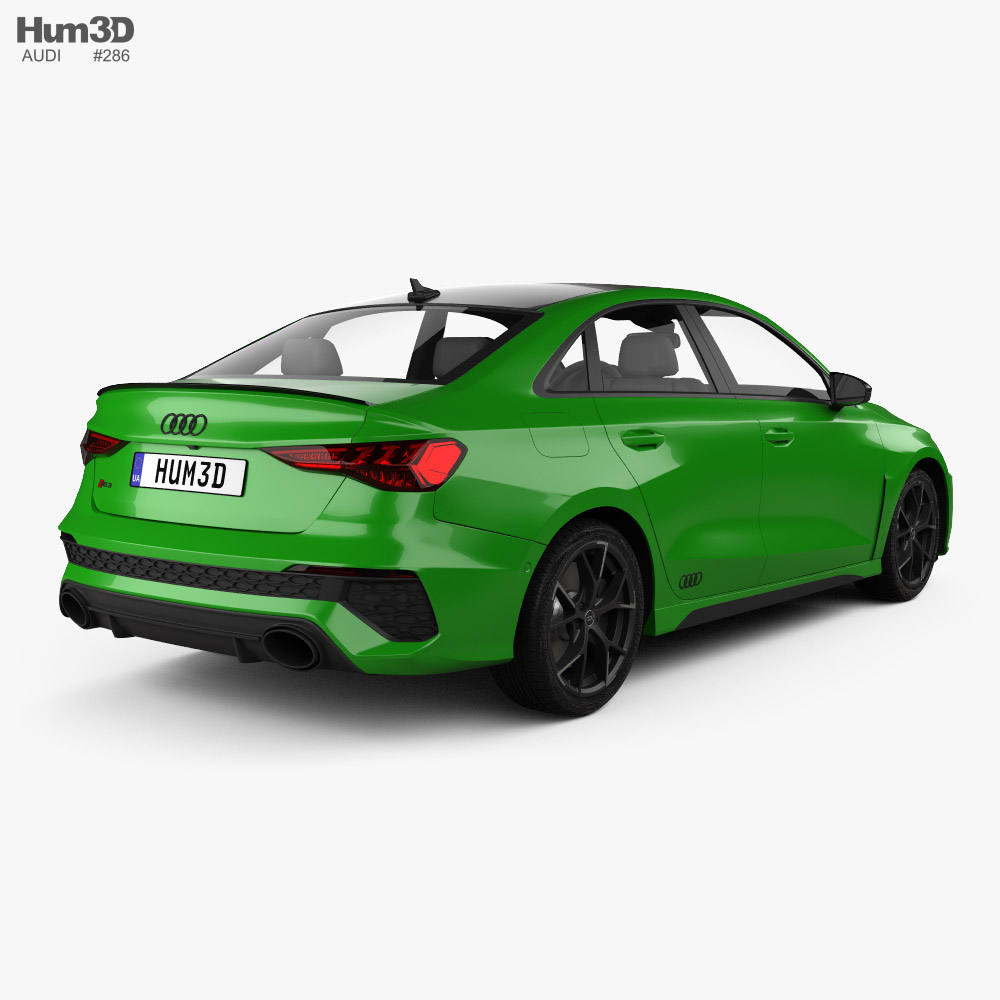 Audi RS3 sedan 2021 3d model back view