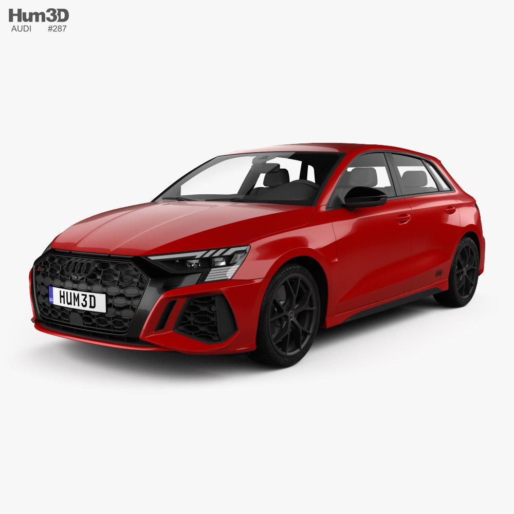 Audi RS3 sportback 2021 3d model