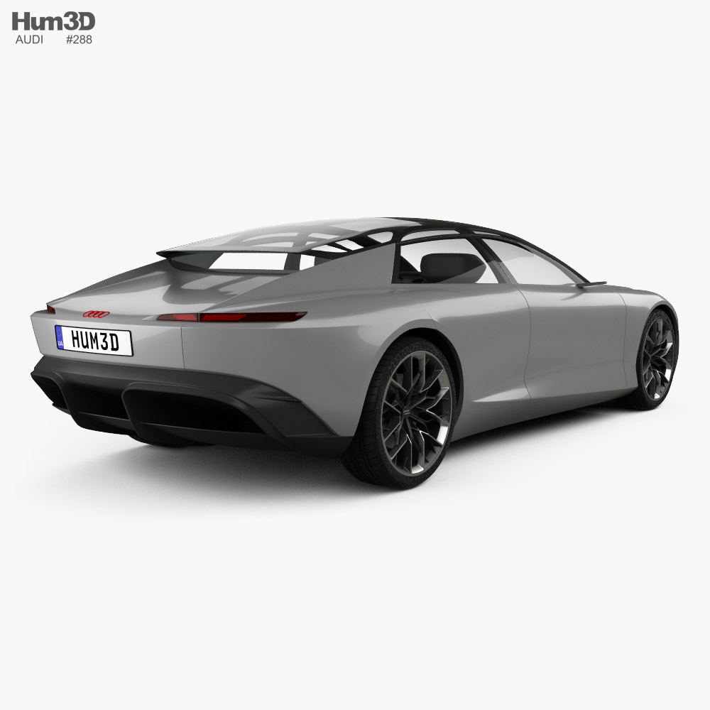 Audi Grandsphere 2021 3d model back view