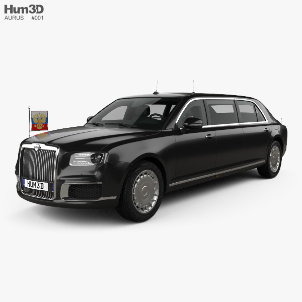 3D model of Aurus Senat Presidential Limousine 2018