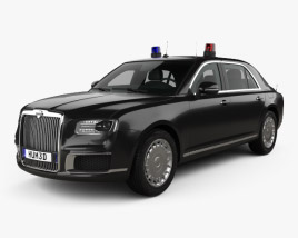 3D model of Aurus Senat Guard sedan 2018