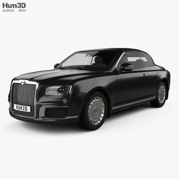 3D model of Aurus Senat convertible 2019
