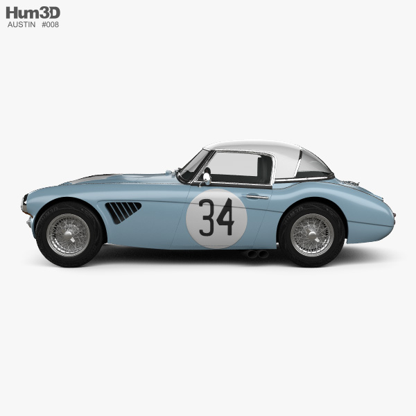 Austin-Healey 3000 Rally 1964 3D model