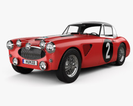 3D model of Austin Healey 3000 Alpine Rally 1962