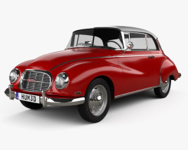 3D model of Auto Union 1000 S coupe de Luxe 1959